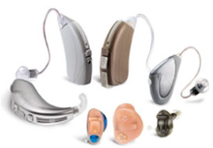 A picture of hearing aids
